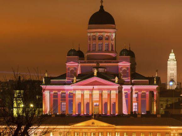 Ljusfestival i Helsingfors